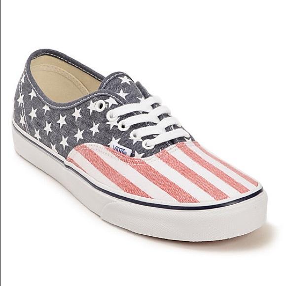 carrera fósil por inadvertencia  Vans Shoes | American Flag | Poshmark